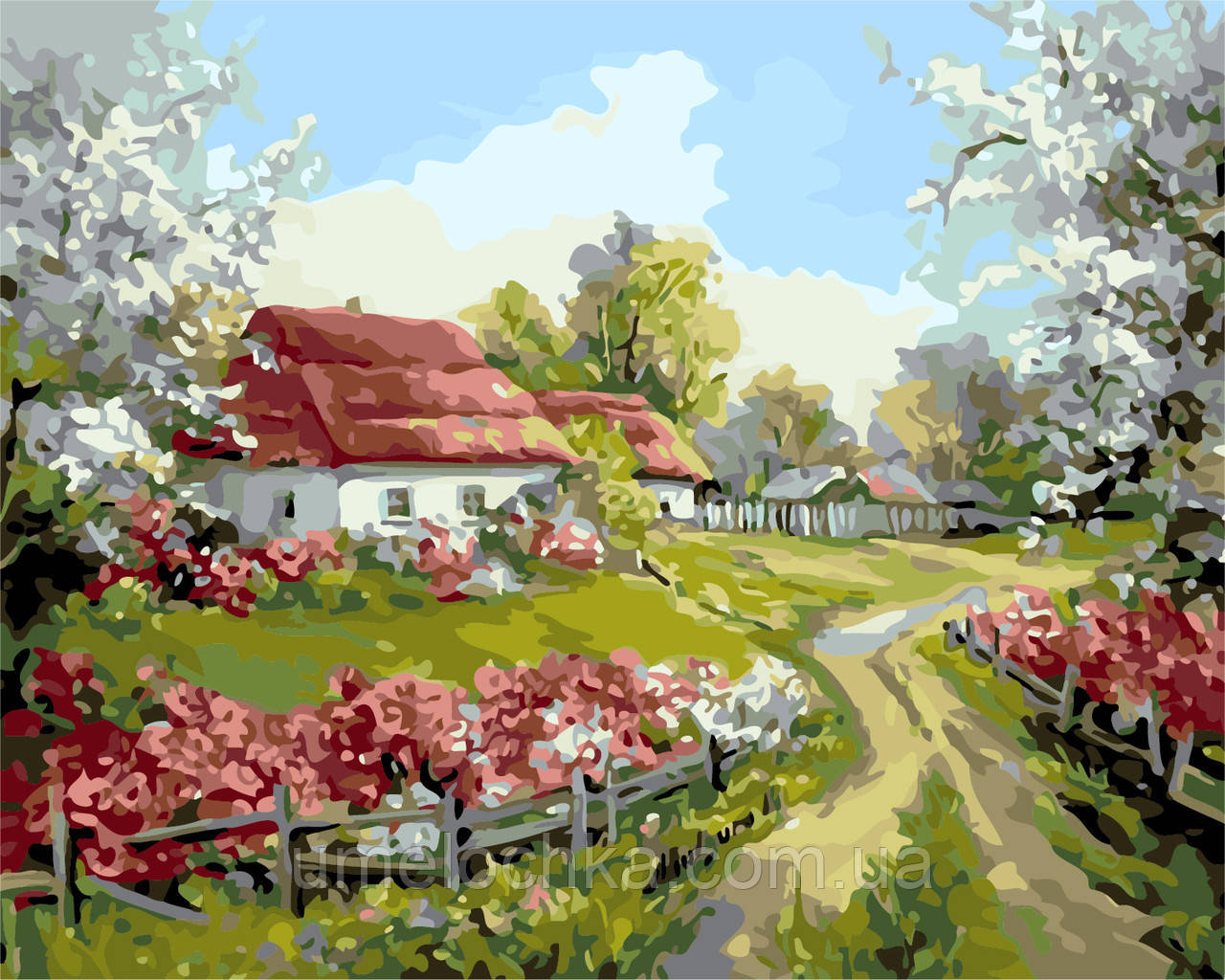 Рисование по номерам Родное село (AS0156) 40 х 50 см ArtStory