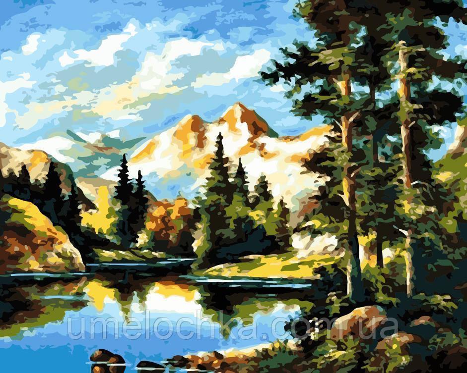 Картина по цифрам Горный пейзаж (AS0162) 40 х 50 см ArtStory