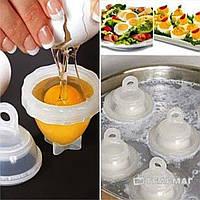 Формы для варки яиц Эггис Eggies- 6 штук+ложка для желтка