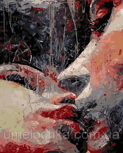 Картина по номерам Страстный поцелуй (AS0188) 40 х 50 см ArtStory