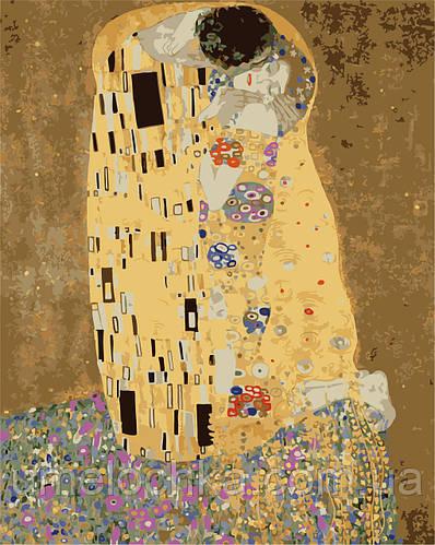 Картина по номерам Поцелуй в золотой ауре (AS0193) 40 х 50 см ArtStory