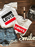 Стильная женская футболка в стиле Levis, фото 1