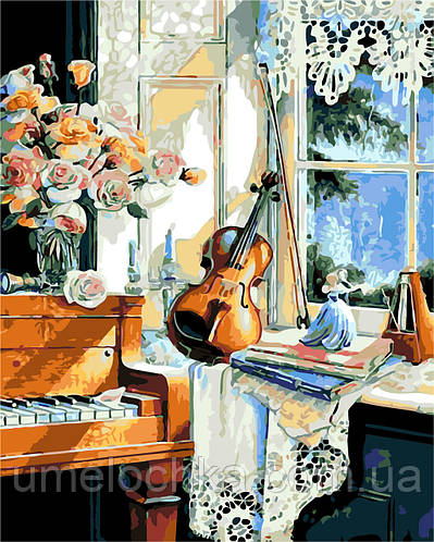 Картина по номерам В гостях у музыканта (AS0201) 40 х 50 см ArtStory