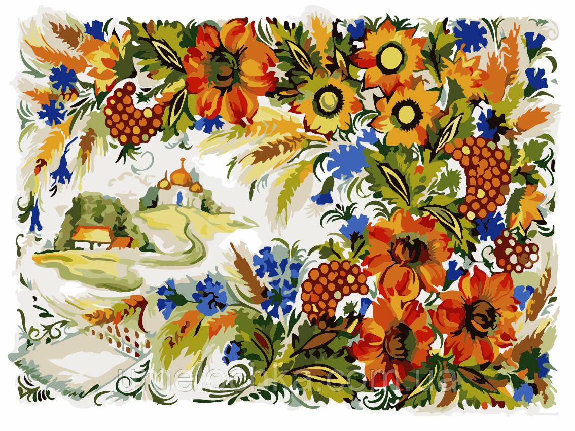 Картина по номерам Петриковская роспись (AS0217) 30 х 40 см ArtStory [Без коробки]