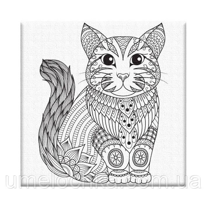 Раскраска антистресс Котёнок (AR04) 20 х 20 см ArtStory [Без коробки]