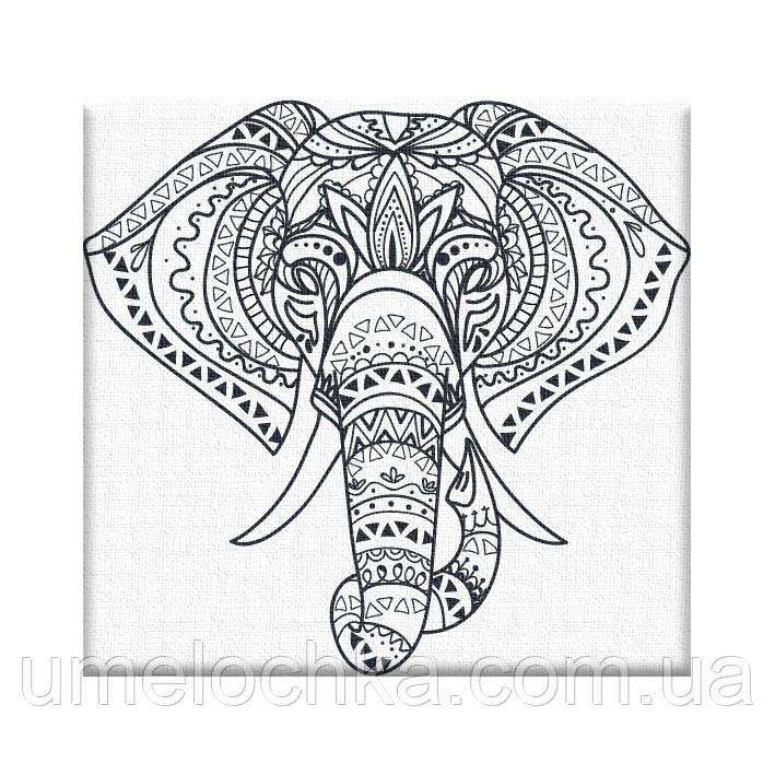 Раскраска антистресс Слонёнок (AR10) 20 х 20 см ArtStory [Без коробки]