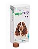 Таблетки для собак від бліх та кліщів Braveсto Бравекто 500 мг на вагу собаки 10 - 20 кг 1 таб