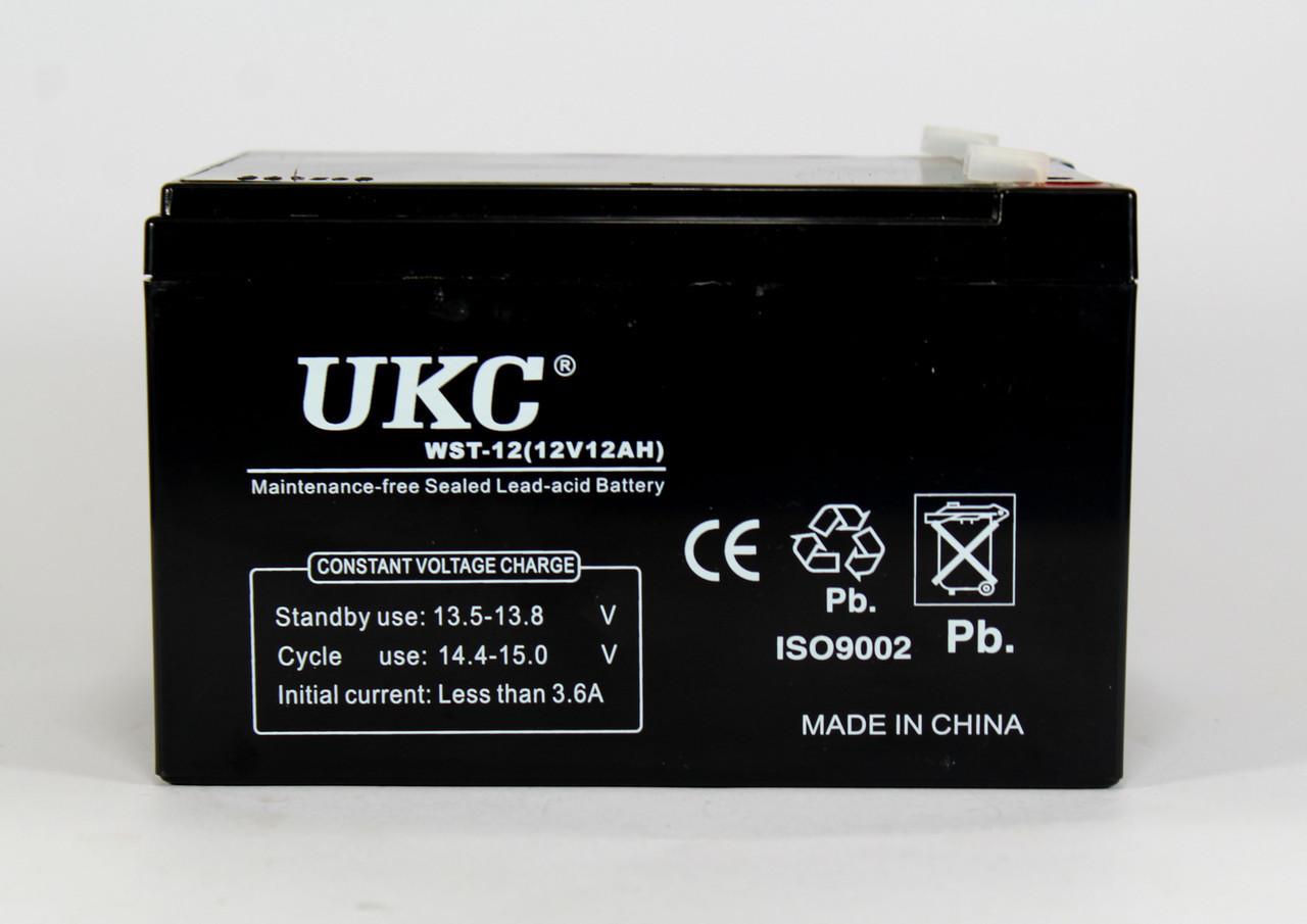 Аккумулятор BATTERY 12V 12A UKC (8) в уп. 8шт.