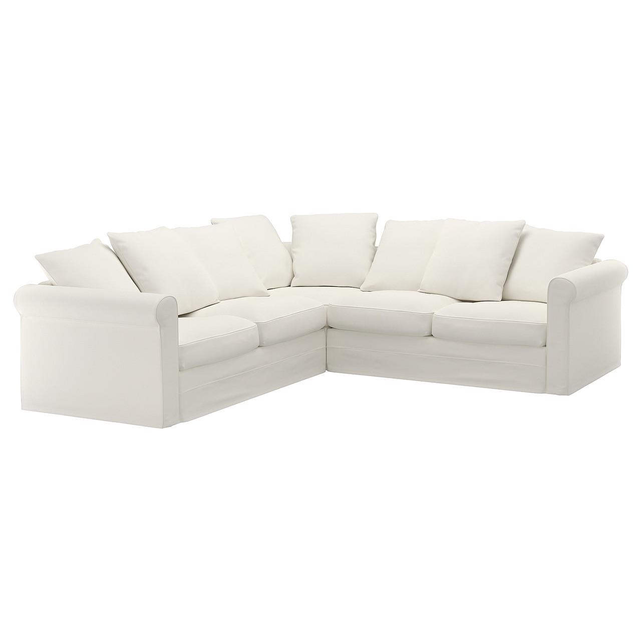 Ikea Gronlid 4 местный угловой диван Inseros белый 29254671