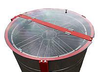 8-ми рамочный Медогонка с поворотом кассет под рамку «Рута», нержавеющая (ротор Н / Ж, с крышкой) — РЕМЕННАЯ