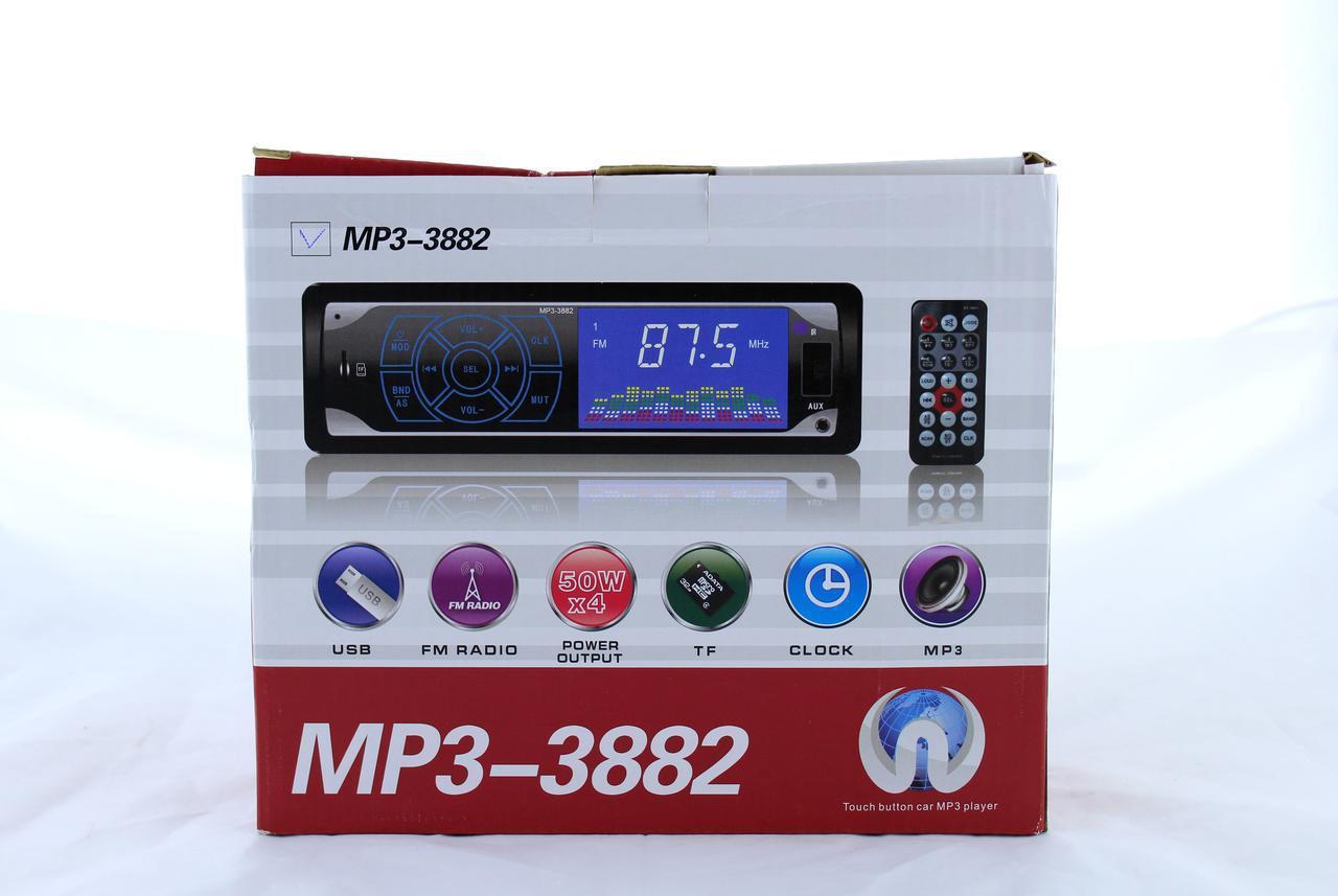 Автомагнитола MP3 3882 ISO 1DIN сенсорный дисплей (20)  в уп. 20шт.