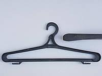 Плечики вешалки тремпеля Гем -3 черного цвета, длина 41 см, фото 1