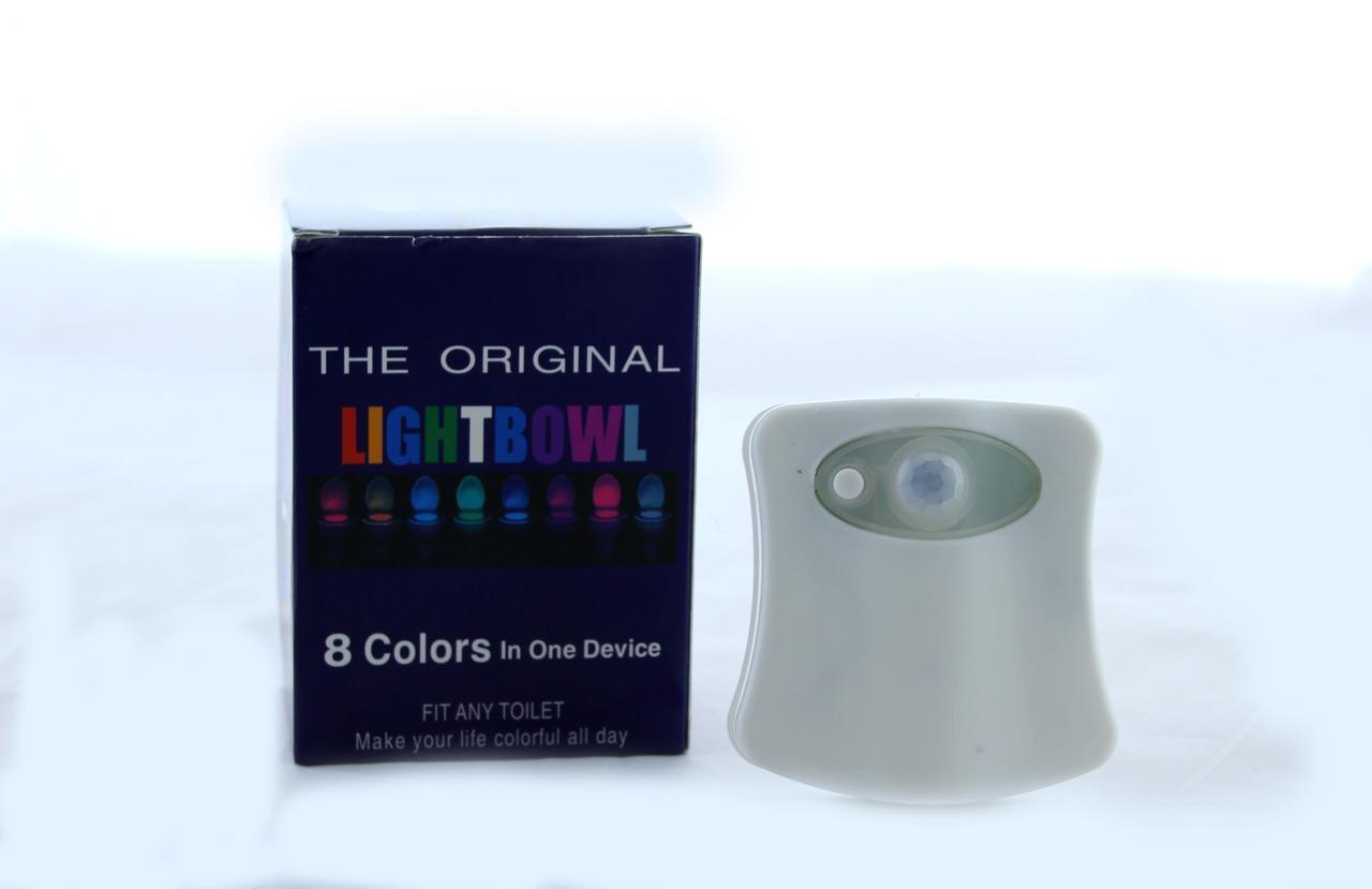 TOILET Led  подсветка для унитаза с датчиком движения и света (200) в уп. 200шт.