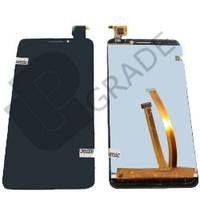 Дисплей для Alcatel 6012 Onetouch Idol Mini/6012A/6012D/6012W/6012X/6012E + touchscreen, черный, с передней панелью, оригинал (Китай)
