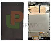 Дисплей для Asus ME571 Google Nexus 7 (2013) + touchscreen, черный, версия 3G, с передней панелью