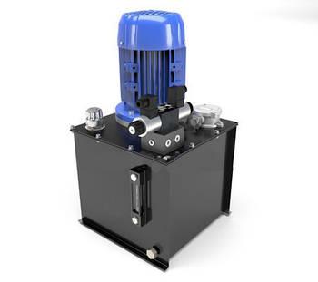 Маслостанция с электромагнитным управлением. Подача 15 литров в минуту, давление от 35 до 160 бар
