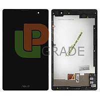 Дисплей для Asus ZenPad C 7.0 Z170C Wi-Fi /Z170CG 3G + тачскрин, черный, с передней панелью