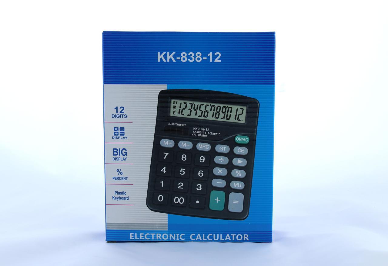 Калькулятор KK 838-12 (80) в уп.40 шт.