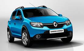 Накладки на пороги Renault Sandero 2 / Stepway 2 (2013+)