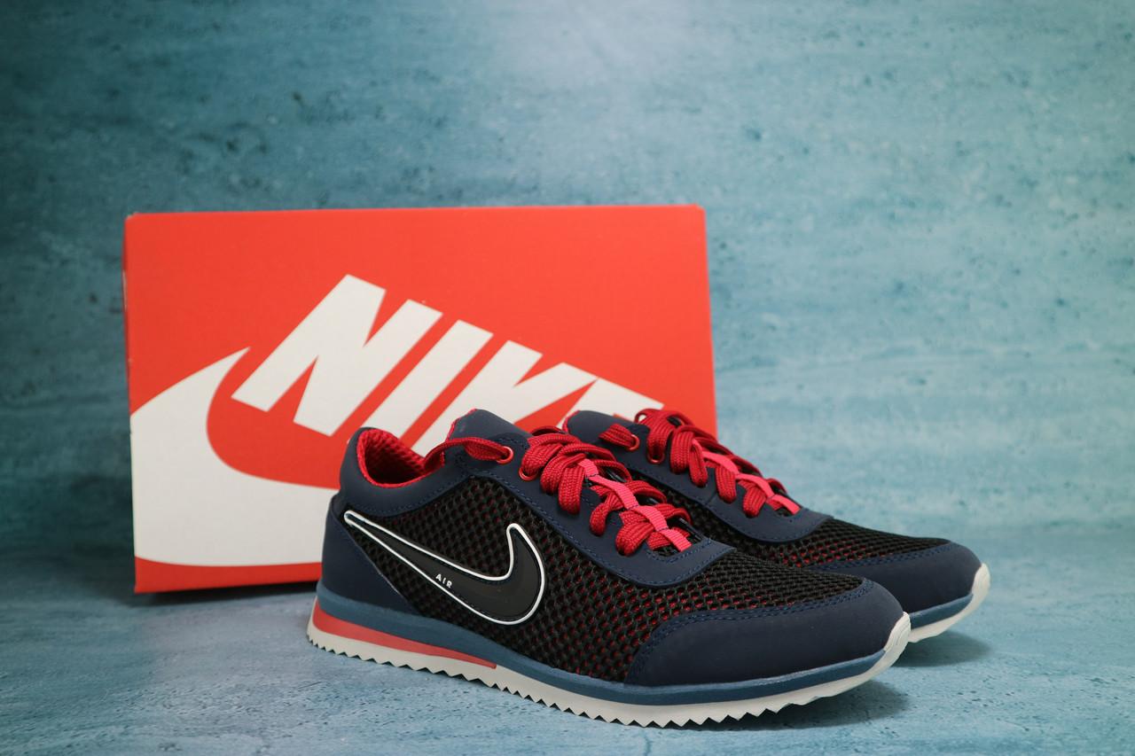 Мужские кроссовки Nike (синие с красным), ТОП-реплика