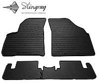 Резиновые коврики Stingray Стингрей Chevrolet Tacuma 2000- Комплект из 4-х ковриков Черный в салон
