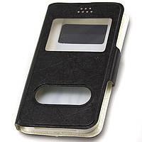 Чехол-книжка для мобильного телефона Универсальная на 5.0 дюймов (Texture) OD black