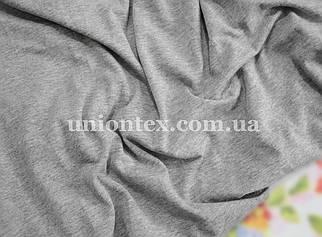 Вискоза трикотаж светло-серый меланж (180см)
