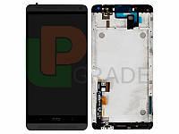 Дисплей HTC 803n One Max с тачскрином (модуль), черный, в рамке (без вставок цвета)
