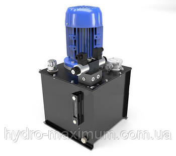 Маслостанция с электромагнитным управлением. Подача 27 литров в минуту, давление от 35 до 160 бар