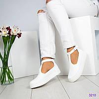Слипоны с ремешком белые, фото 1