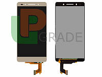 Дисплей (экран)  Huawei Honor 7 (PLK-L01)/Honor 7 Enhanced Edition + тачскрин (сенсор), золотистый