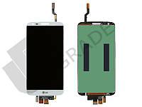 Дисплей для LG D800 G2/D801/D803/D808/E940/F320/LS980/VS980 + touchscreen, белый, оригинал (Китай), 34 pin