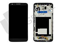 Дисплей для LG D800 G2/D801/D803 + тачскрин, черный, с передней панелью, оригинал (Китай), 34 pin