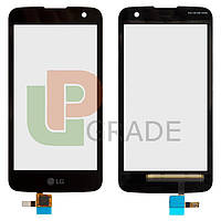 Тачскрин для LG K130E K4/VS425, черный, без датчика приближения, оригинал (Китай)