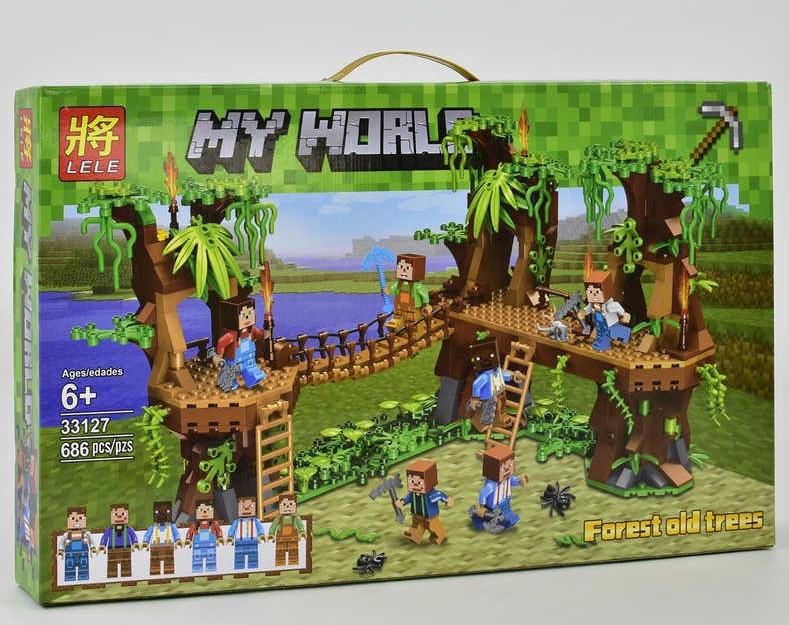 "Конструктор ""MY WORLD"" LELE ""Джунгли"", 686 деталей.Игрушки, детский конструктор."