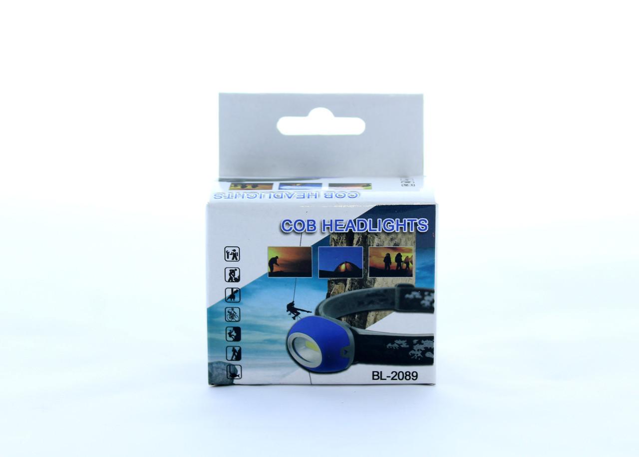 Ліхтарик на лоб BL 2089 COB (480) в уп.60 шт.