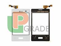 Тачскрин LG E425 Optimus L3 II, белый, в рамке