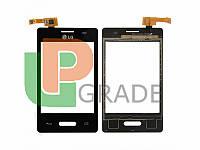 Тачскрин LG E425 Optimus L3 II, черный, в рамке
