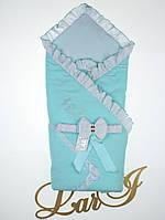 Летний конверт-одеяло Улыбка, ментол