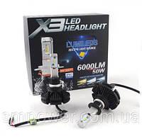 Комплект Автоламп LED X3 Philips Lumileds Z ES, H1, 6000LM, 50W, 9-32V