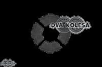 """Резинки демпферные колеса  Delta  силикон, черные  """"VLAND"""""""