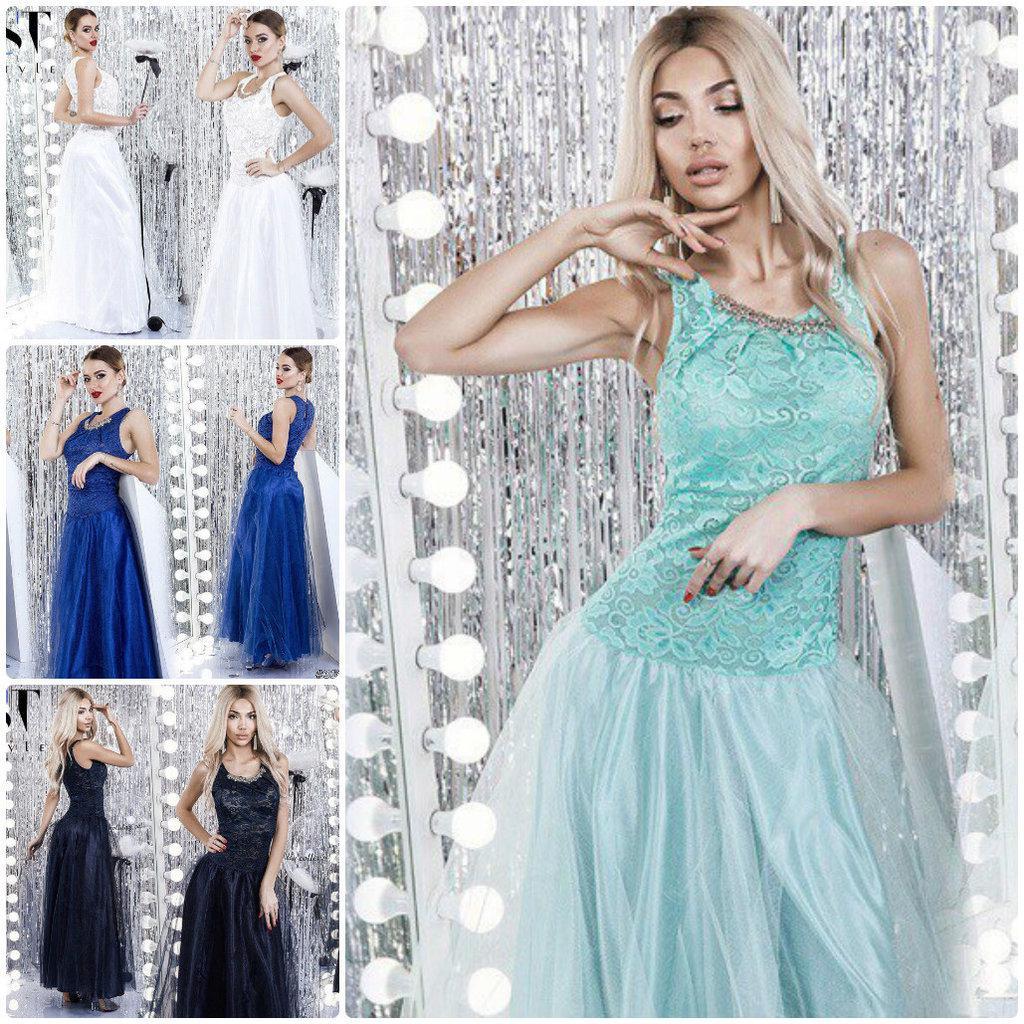 1eda3cb5bea91b3 Выпускное вечернее платье Брошь длинное в пол макси пышное гипюр фатин