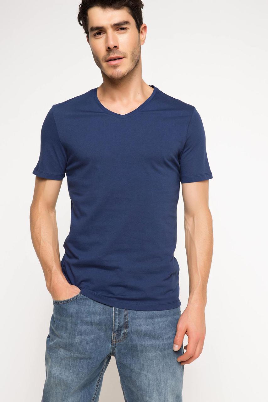 Синяя мужская футболка De Facto / Де Факто