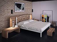 """Кровать металлическая """"Карисса"""" TM """"Tenero"""" 180*190/200, белый, бежевый, коричневый, черный бархат, черный(глянец)"""