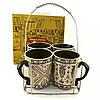 Набор чайный на подставке Helios 4кружки 350 мл 2520