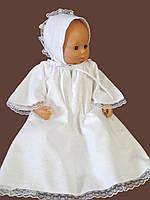 Зимнее крестильное платье из фланели с крыжмой. Модель Bell  2