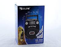 Радиоприемник Golon RX 990 портативная колонка, Бумбокс в форме чемодана  USB /SD / MP3/ FM