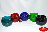 Ваза цветное стекло шар 120х150 мм цвет темная бирюза