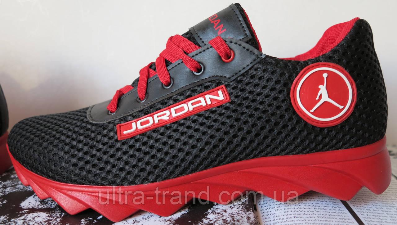Летние мужские  кроссовки в стиле Jordan! сетка кожа
