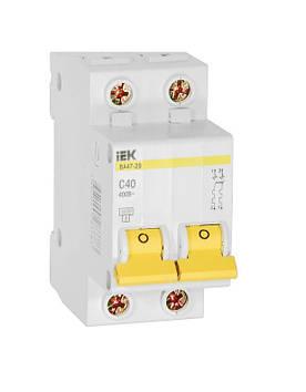 Автоматический выключатель IEK ВА 47-29 2п 40A 4.5кА хар С